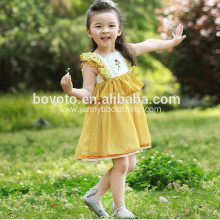 Wholesale hand embroidery rose dress for toddler